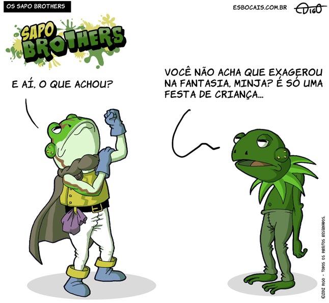 Digo Freitas, Esboçais, Sapo Brothers, Rafael Dourado, quadrinhos, humor, tiras, tirinhas, cartoon