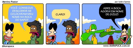 Izidro, Karapuça, Sapo Brothers, Rafael Dourado, quadrinhos, humor, tiras, tirinhas, cartoon