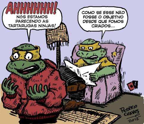 Rodrigo Chaves, Contratempos Modernos, Sapo Brothers, Rafael Dourado, quadrinhos, humor, tiras, tirinhas, cartoon
