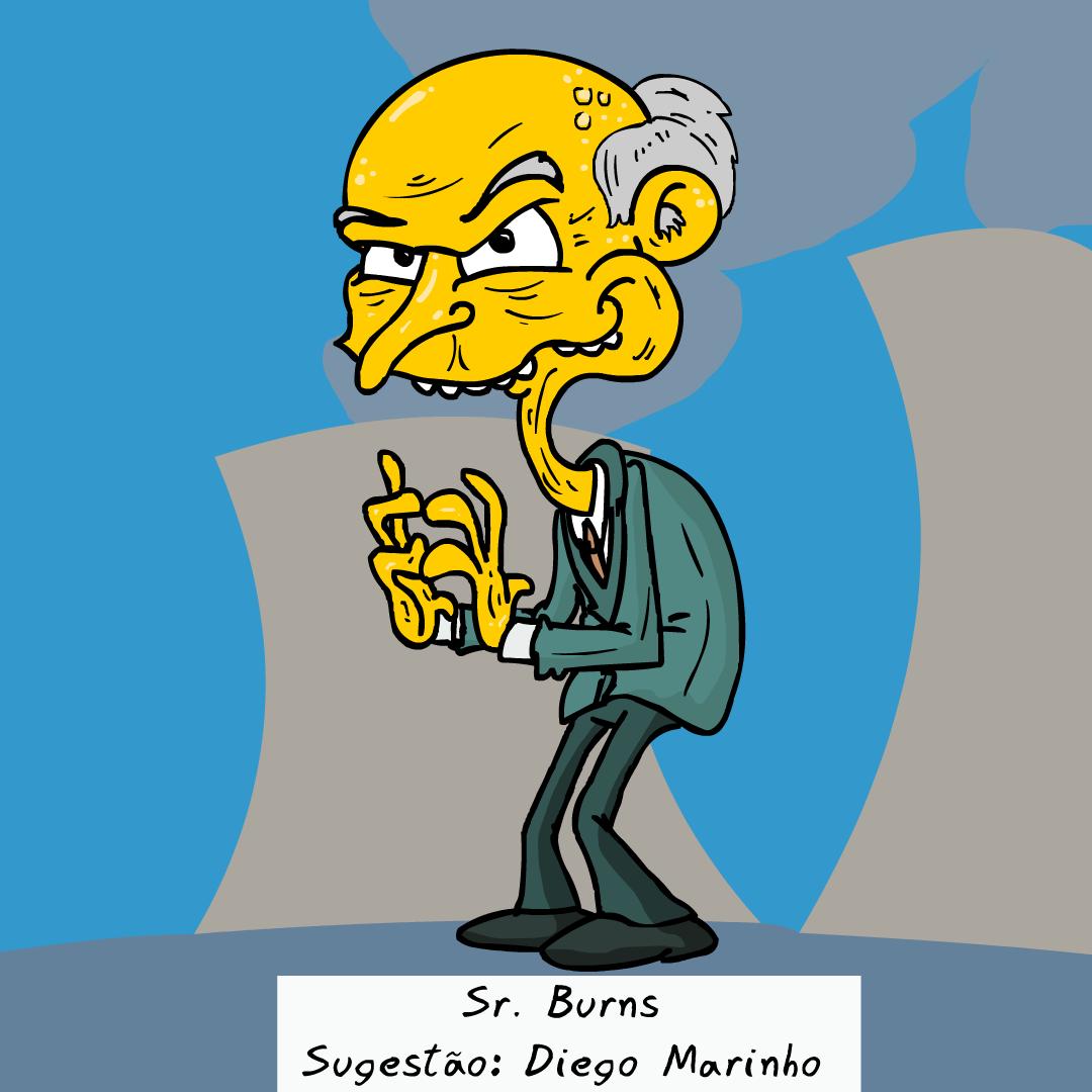 Sr. Burns, simpsons, Sapo Brothers, diversão, tiras, humor, games, jogos, animação, anima, quadrinhos, infantil, minja, jones