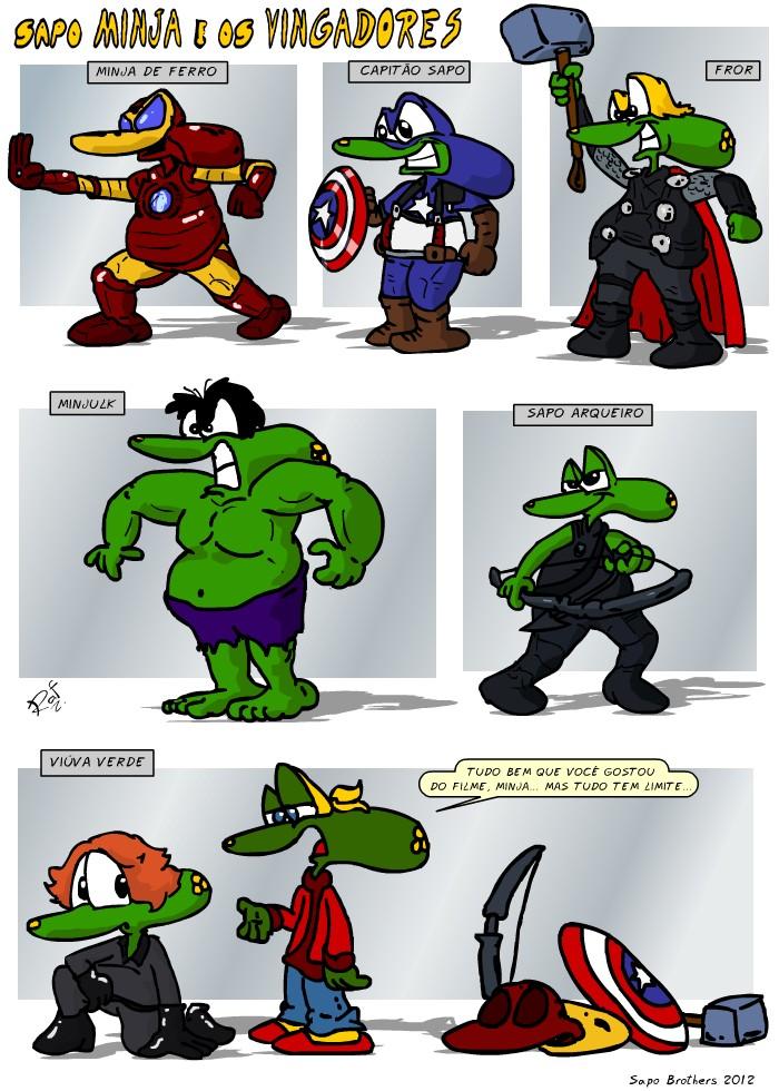 Sapo Brothers, diversão, tiras, humor, games, jogos, animação, anima, quadrinhos, infantil, minja, jones