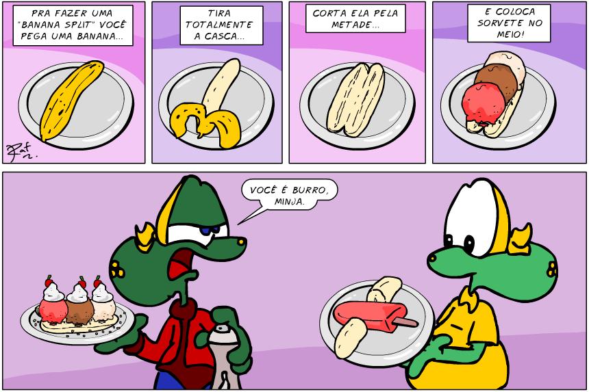 banana split, desenho, criança, piada, tiras, humor, HQ, quadrinhos, infantil