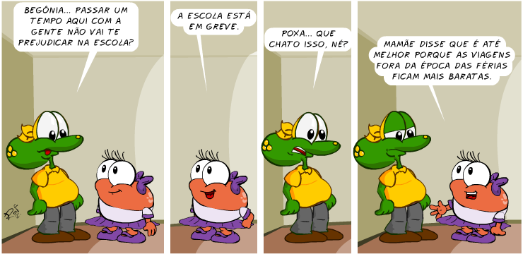 Sapo Brothers, Begônia, Begofredo, tiras, humor, HQ, quadrinhos, infantil
