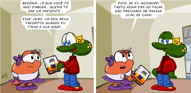 Sapo Brothers, Begônia, Menino Maluquinho, tiras, humor, HQ, quadrinhos, infantil