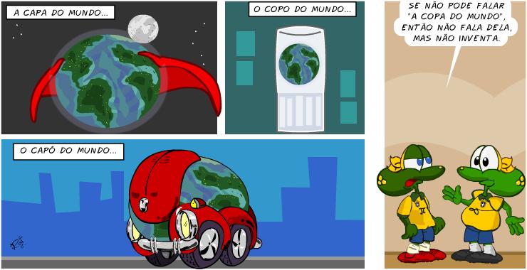 copa do mundo, piada, tiras, humor, HQ, quadrinhos, infantil