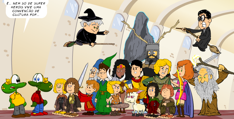 ccxp18, piada, tiras, humor, HQ, quadrinhos, infantil
