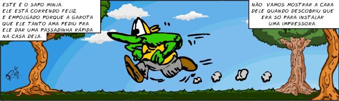 felizempolgado, Sapo Brothers, diversão, tiras, humor, games, jogos, animação, anima, quadrinhos, infantil, minja, jones