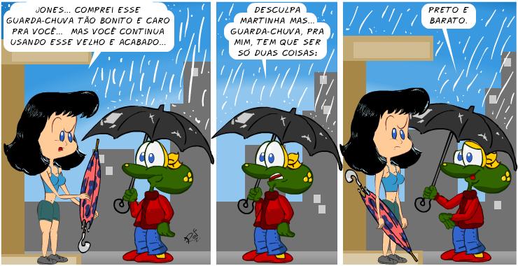 guarda-chuva, piada, tiras, humor, HQ, quadrinhos, infantil