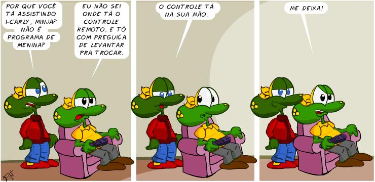 Sapo Brothers, i-Carly, tiras, humor, HQ, quadrinhos, infantil