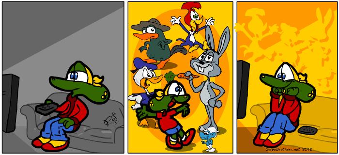 Sapo Brothers, diversão, tiras, humor, japa,  animação, anima, quadrinhos, infantil, minja, jones